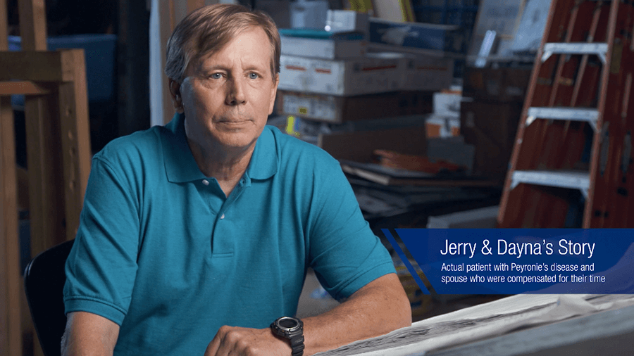 Jerry, a man with Peyronie's disease